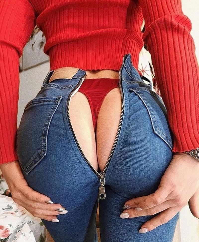секси попы в джинсах - 11